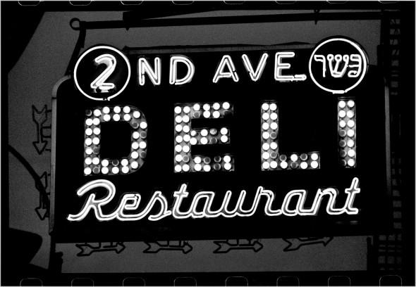 2d Ave Deli Neon sign