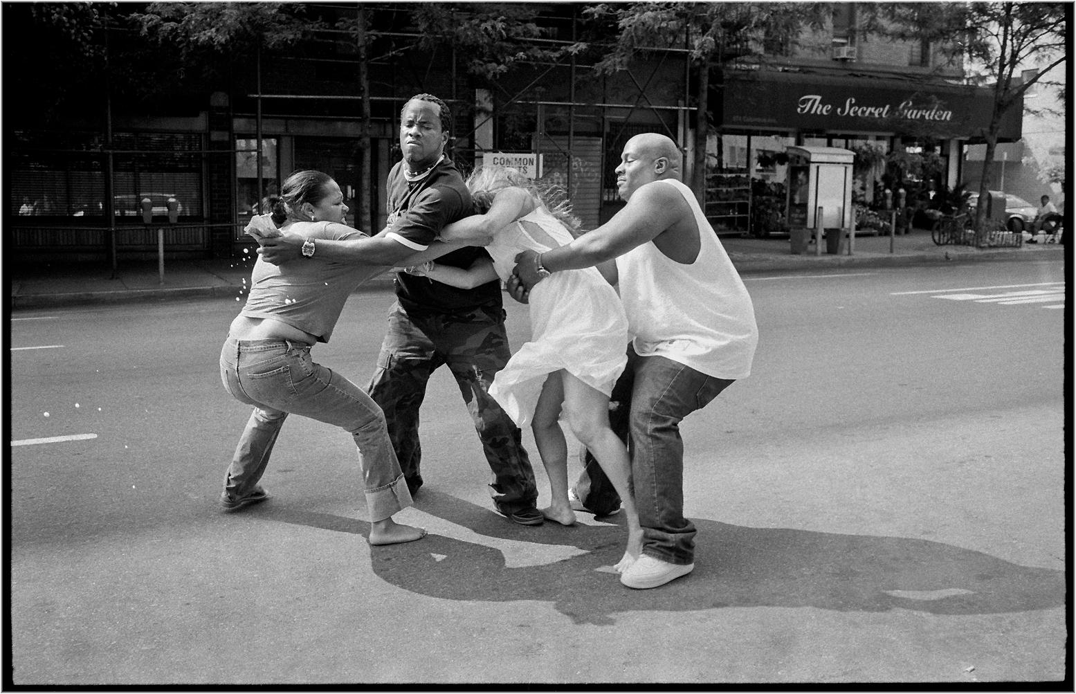vs women fight Black white