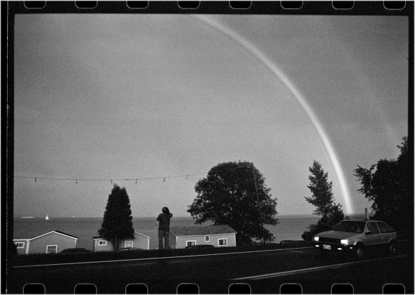 photographing the rainbow