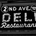 2d Ave. Deli Neon Sign 1987