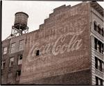 Old Painted Coca-Cola Mural 1986