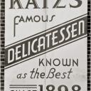Porcelain KATZ's Deli Sign 1987