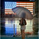 Flag Rainy Night Times Sq. 2012