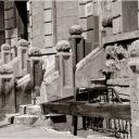 Harlem Crumbling Brownstones 1988